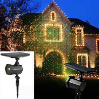 Luce Laser Led Natale Facciata con Pannello Solare Light PROIETTORE NUOVO LUCE