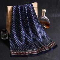 Men Luxury Silk Scarf Business Fashion Royal Printing Vintage Long Neck Scarves