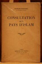 ANCIEN LIVRE CONSULTATION AUX PAYS D'ISLAM DE 1947.