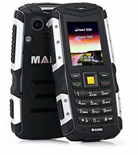 Nuevo MANN ZUG S resistente resistente teléfono inteligente a prueba de choques polvo agua gris