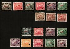 Nicaragua Nat. Palace Managua and Leon Cath. Specimen Stamp Lot of 18