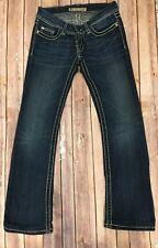 BKE Stella Women's Buckle Jeans Size 26 Hemmed 29.5 Slim Boot Cut Dark Wash