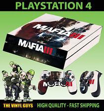 PS4 Skin Mafia III 3 Lincoln Clay Gangster Sticker New + 2 X Pad decal Vinyl LAY