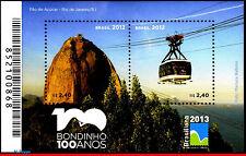"""3232 BRAZIL 2012 """"PAO DE ACUCAR"""", CENT, CABLE CAR RIO, BRASILIANA 2013 B-171 MNH"""