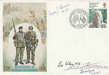 FDC The Bicentennial of American IndependenceSigned VC holder & 3 Battle of Brit