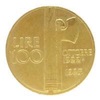 COPIA moneta collezione ITALIA 100 lire 1923 fascismo anniversario marcia Roma