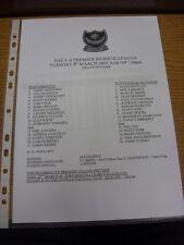 08/03/2005 Portsmouth Reserves v Tottenham Hotspur Reserves  (single sheet). Tha