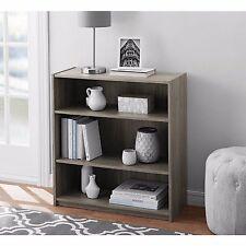 Adjustable 3-Shelf Wood Bookcase Storage Shelving Book Bookshelf Furniture