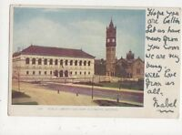Public Library & New Old South Boston USA 1905 Postcard 500a