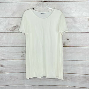 Alexander Wang Womens Shorts Sleeves Dress Tunic Off white Lined Size L Silk
