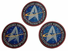 Star Trek TNG Starfleet Command UFP Embroidered Iron On Patch Set of 3 Patches