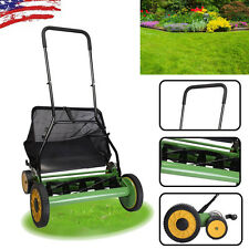 "Useful High Quality Manual Hand Push Lawn Mower 20""Cutting Width Easy To Push"
