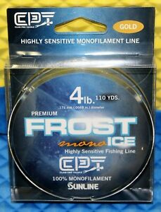 Clam Premium Frost Ice Fishing Line 100% Monofilament 110YD 4LB Gold 15609
