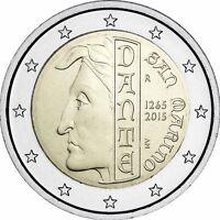 San Marino 2 Euro 2015 Dante Alighieri Stempelglanz Gedenkmünze in Coin Card