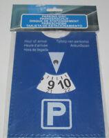 Disque de Stationnement Parking Européen Zone Bleue 10X15 cm Plastique NEUF