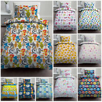 Childrens Single Bed Size Kids Duvet Quilt Cover Sets with Pillowcase Bedding