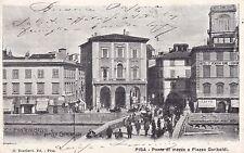 1835) PISA PONTE DI MEZZO E PIAZZA GARIBALDI.