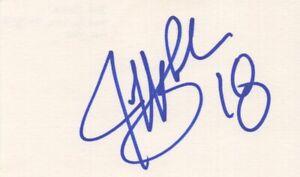 Jeff Blake - NFL Football Pro Bowl - Autographed 3x5 Card