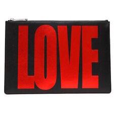 GIVENCHY Medium Love Flat Pouch, Black/Red- NWT/ BOX