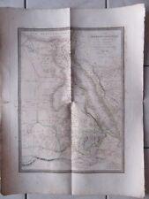 GRANDE CARTE GEOGRAPHIQUE ANCIENNE EN COULEURS 1829 L'EGYPTE DE LA NUBIE ABISSIN