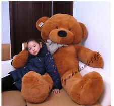 63in.Giant Huge Big Dark Brown Teddy Bear Plush Soft Toys Doll Gift+Ems Ship