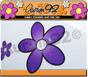 Purple Daisy Car Stickers - Pack of 30