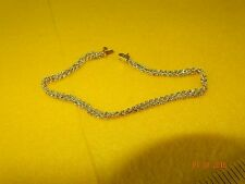 """14k YELLOW GOLD DOUBLE STRAND ROW SOLID ROPE BRACELET 7"""""""