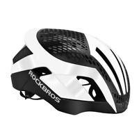 RockBros White Cycling Helmet 57cm-62cm Integrally Helmet 3 in 1 with Rain Cover