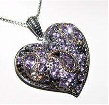 "Le Vian Silver 2.91CT Amethyst Heart Pendant with chain 18"" $797.50"