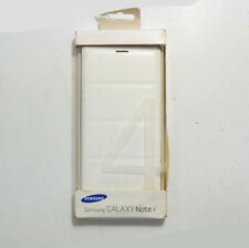 New OEM Samsung Flip Wallet White Case For Samsung Galaxy Note 4