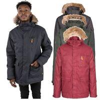 Trespass Mens Parka Jacket Winter Waterproof Coat with Fleece & Hood