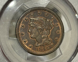 1844 PCGS MS63BN Large Cent PQ Coin