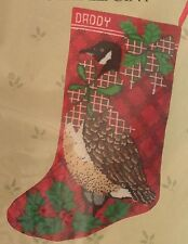 "Something Special Needlepoint Kit CANADA GOOSE Christmas Stocking 30447 17""L NIP"