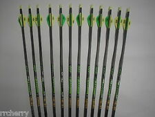 12 Gold Tip XT Hunter 5575 400 Carbon Arrows w/ Blazer Vanes! WILL CUT TO LENGTH