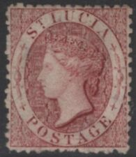 ST.LUCIA SG5bx 1863 1d LAKE WMK REVERSED MTD MINT