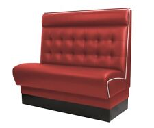 [409520] AMERICAN Gastro Sitzbank 120x110cm | Rot & Weiß | Chesterfield | Gastro