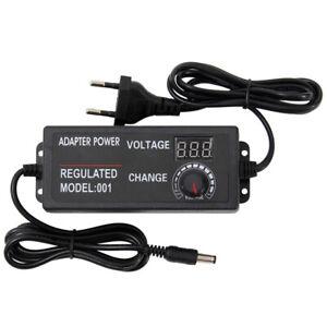 LED Digital AC/DC Adapter Einstellbar Stecker Netzteil Motordrehzahlregler DHL