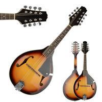 New Sunset 8 Strings Elegant Cambered Wood Acoustic Mandolin Folk World