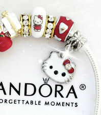 Pandora Bracelet Hello Kitty Christmas Holiday Pugster European Charms New