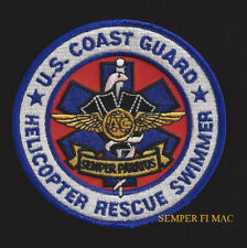 US COAST GUARD HELICOPTER RESCUE SWIMMER PATCH USCG PIN UP HELO ANCHOR USCG