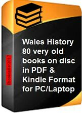 ebooks: 80 of Wales history genealogy in pdf & mobi format for PC & more on disc