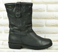 CAMPER Black Leather Womens Hi Ankle Mid Calf Boots Biker Shoes Size 3 UK 36 EU