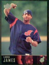 LeBRON JAMES  CLEVELAND CAVALIERS AUTHENTIC FIRST PITCH BASEBALL CARD  SP