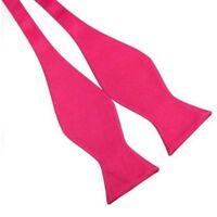 Plain Self Plain Silk Bow Tie Wedding Adjustable Solid Color Bowtie Fashion