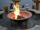 """Cast Iron Fire Pit, Designed from 19th C. Georgia Syrup Kettles, 48"""" W"""