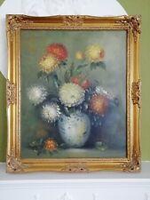 Original Oil Painting Feldner Artist - Flowers in Vase - Signed