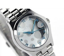 NWT Marc Jacobs Womens Watch Silver Bracelet Blue MINI HENRY GLOSSY POP MBM3269