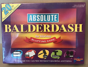 20th Anniversary Edition - Absolute Balderdash The Hilarious Bluffing Game. NEW