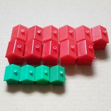 MONOPOLY 11x Red Hotels + 4x Green Houses - Original Spare Pieces