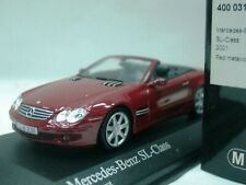 WOW EXTREMELY RARE Mercedes WR230 500SL Cabriolet 2001 D Red 1:43 Minichamps-AMG